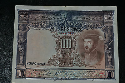 @@@@@ Spain 1000 pesetas 1925 king Carlos I PICK 70 @@@@@