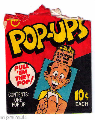 Topps Pop-ups wrapper, early-1970s, uncommon, HTF