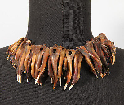 Old Magic Shamans Rodent Jawbone Necklace Papua New Guinea