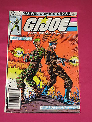 G.I. Joe #7 ARAH Marvel Comics 1983, Cobra Commander, Scarlett, Flash, Hawk