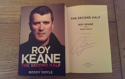 Roy Keane The Second Half SIGNED 1st/1st Autobiography Manchester United HB Book