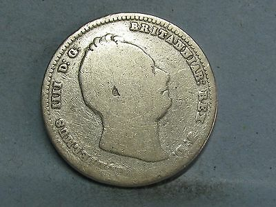 William Iv  Silver Shilling Coin Dated 1834