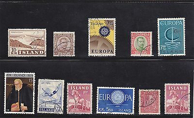 Stamps of Iceland.