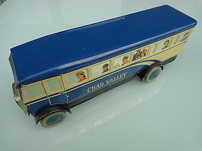 Rare Vintage Chad Valley 1950's Tinplate Wind-Up Motor Bus