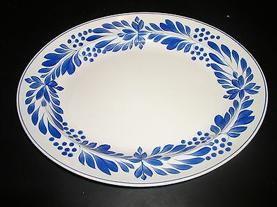 Rare George Jones Blue Acacia Pattern Meat Plate Retailed At Heals Of London c19