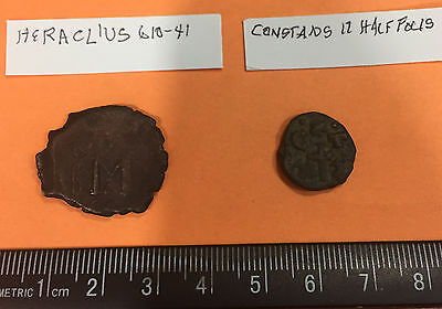 ancient Byzantine coins - Heraclius and Constans II