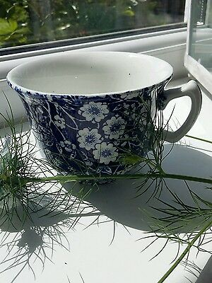 Vintage/Antique China? Tea Cup *Blue Calico* Blue & White  Made in England