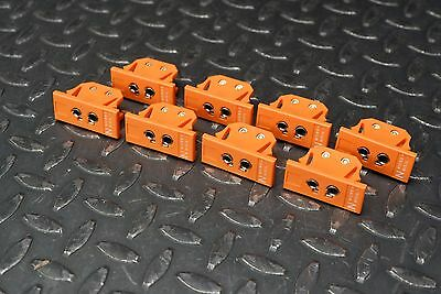 8 Pieces N-Type Panel Jack Thermocouple Connector Standard & Miniature