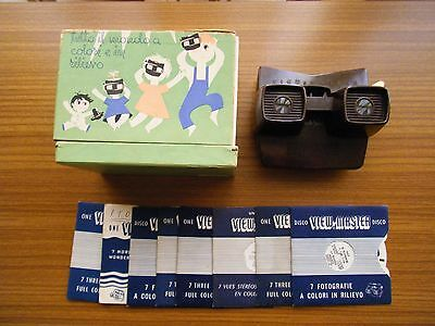 Viewmaster Model E Bakelite with box and discs, circa 1956 - Brown version