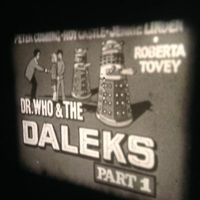 super 8 film Dr.Who and The Daleks Part 1+2 400 ft reel 1965 Cushing RARE