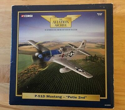 CORGI Aviation Archive 1/72 Scale P-51D Mustang 'Petie 2nd' by Corgi - AA32204