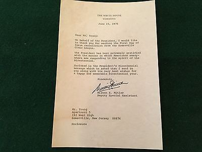 1976 Bicentennial Letter from the White House