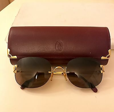 Cartier Occhiali C Decor Sunglasses Gold Vintage