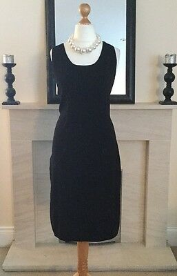 Gorgeous Monsoon Black Beaded Dress Size 18 Christmas Party