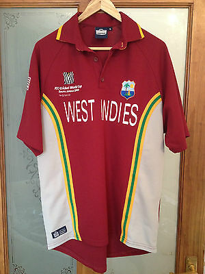 West Indies ODI cricket shirt 2003 World Cup SMALL Admiral