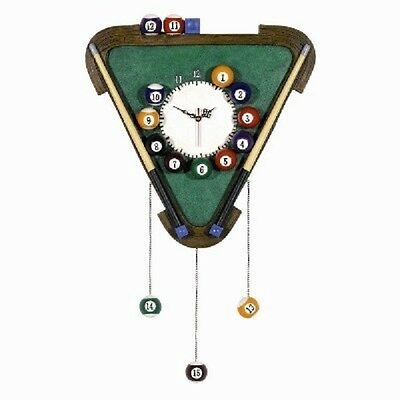 Wooden Billiards Clock Pub Sign 3D Art with FREE shipping