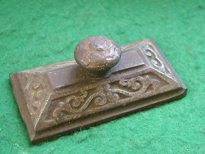 Small Antique Cast Iron Desk / Paper Weight