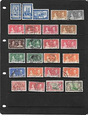 1937 Coronation Stamps  ( Odds  Used  )