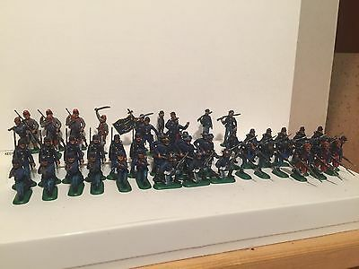 1:72 ITALERI 6012 UNION INFANTRY and ZOUAVES 50 FIGURE  DIPINTE A MANO WITH BOX
