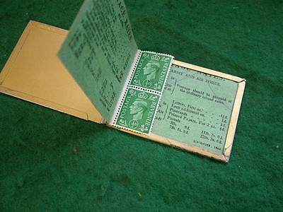 2 x 1944 King Edward VIII 1/2d stamps in book + Stamp Case