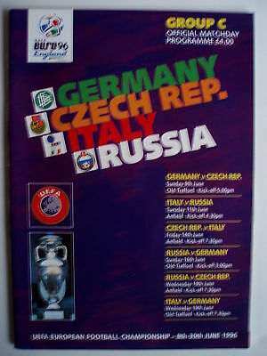 Euro 1996 - Group C - Germany/czech.republic/italy/russia - Excellent