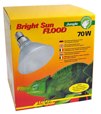 Lucky Reptile Bright Sun FLOOD Jungle UV 70 Watt /  UVA UVB Strahler / UV Lampe