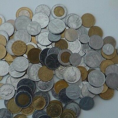 ITALY JOB LOT / COLLECTION 800g COINS FROM THE 1950's to1990's Ref T068