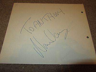Norman Vaughan   -  Comedy Signed -  7X5 Inch Paper Page  - Genuine -  Uacc