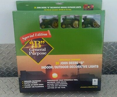 John Deere Outdoor Lighting: John Deere Model b gp Tractor Light Set 20 Light String new party Christmas  tree,Lighting