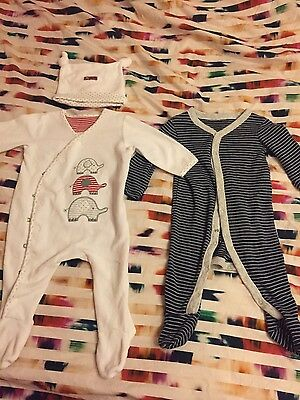 Baby boy sleepsuits bundle size 0-3 months