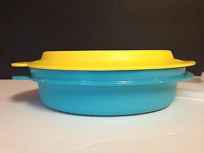 """* NEW Tupperware 3 pc Microwave Reheatables Dish 2527A, Lid 2528 & seal  """"P"""""""