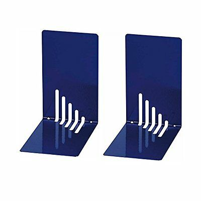 Wedo 1021003Metal Bookend, 5.5x 8.5x 14Inches, Blue (Pack of 2)