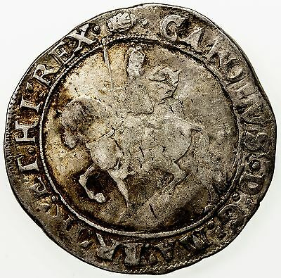 GREAT BRITAIN: Charles I, 1625-1649, silver 1/2 crown (14.34g), ND (1636-8)