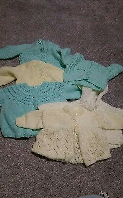 hand knitted baby cardigans 0-6 months