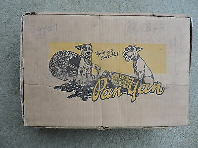 VERY RARE OLD 1930`s  BONZO THE  DOG  PAN YAN PICKLE  SHOP ADVERTISING  BOX