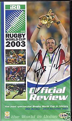 Martin Johnson Signed Video 2003 Rugby Union World Cup Review Autograph