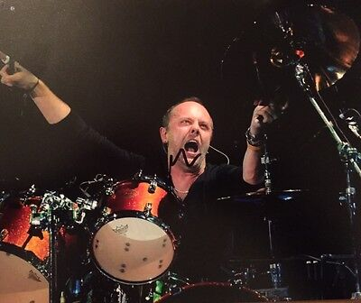 Lars Ulrich ~ HAND SIGNED ~ 10x8 photo ~ Metallica ~ AUTOGRAPH