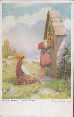 Artist Signed M Tarrant Our Lady Of The Buttercups Out O' Doors 1935