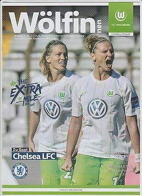 Orig.PRG   Womans Champions League 2016/17  VfL WOLFSBURG - CHELSEA LFC  !  RARE