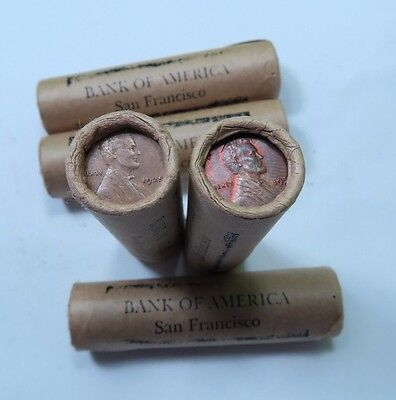 (1) Premium - Bank Of America San Francisco Stamped Wheat Penny Roll