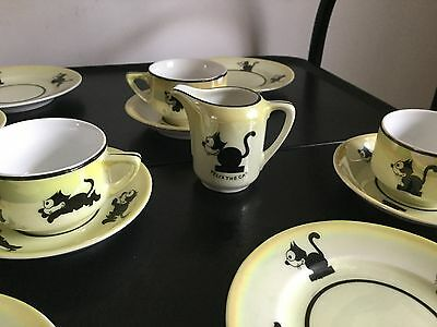1920s-1930s Felix the Cat Tea Set from Germany