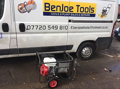 Petrol welder Generator & 200 Amp Arc Welder 13hp Engine 240 & 110 Volt