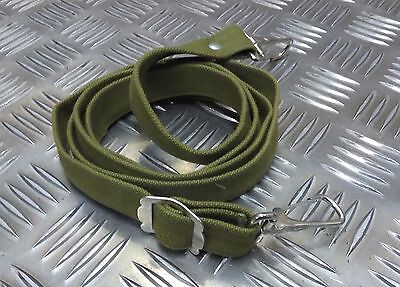 Vintage Military Style Green Double Hook Canvas Webbing Issue Shoulder Strap