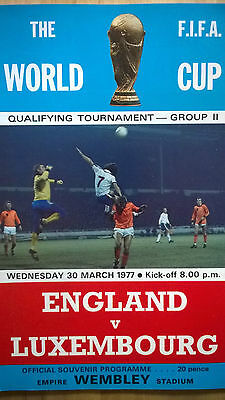 England vs Luxembourg 1976/77 World Cup Qualifying