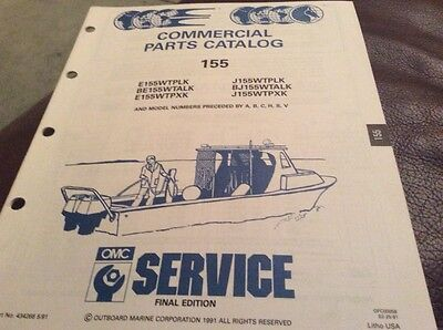 OMC Evinrude Johnson 1992 Commercial parts catalog for 155 models