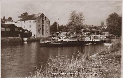 Paddle Steamer Compton Castle Leaving Totnes Real Photo 1952