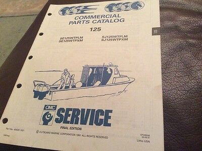 OMC Evinrude Johnson 1992 Commercial parts catalog for 125 models