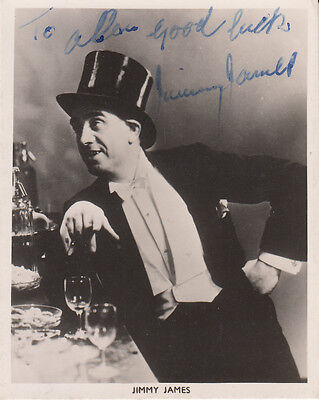 Jimmy James Music Hall Comedian Actor Hand Signed Photo