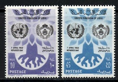 (Ref-9781) Libya  1960 World Refugee Year  SG.240/241  Mint (MNH)