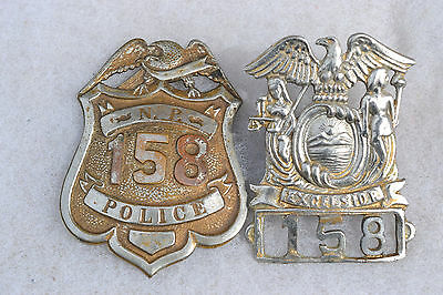 Obsolete Antique Police Badge & Hat Set Northern Pacific Railroad La Stamp